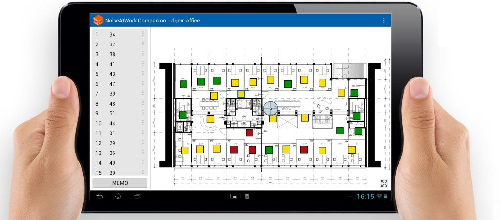 STEP 1: mark the measurement locations on your paper map (or use a scanned map on your tablet with NoiseAtWork Companion)