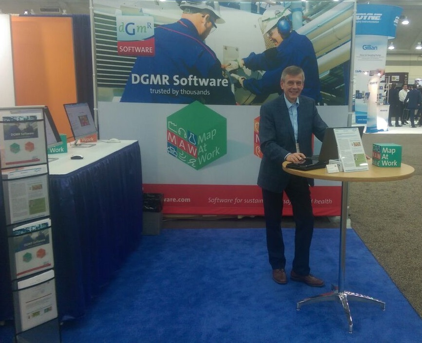 DGMR Software booth at AIHce