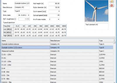 Wind turbine database