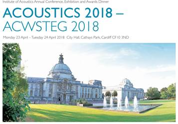 Meet us at Acoustics 2018 in Cardiff