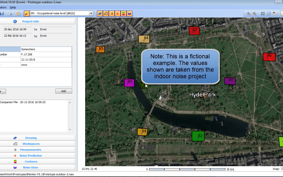 New monitoring option in NoiseAtWork V5.1 for dynamic mapping