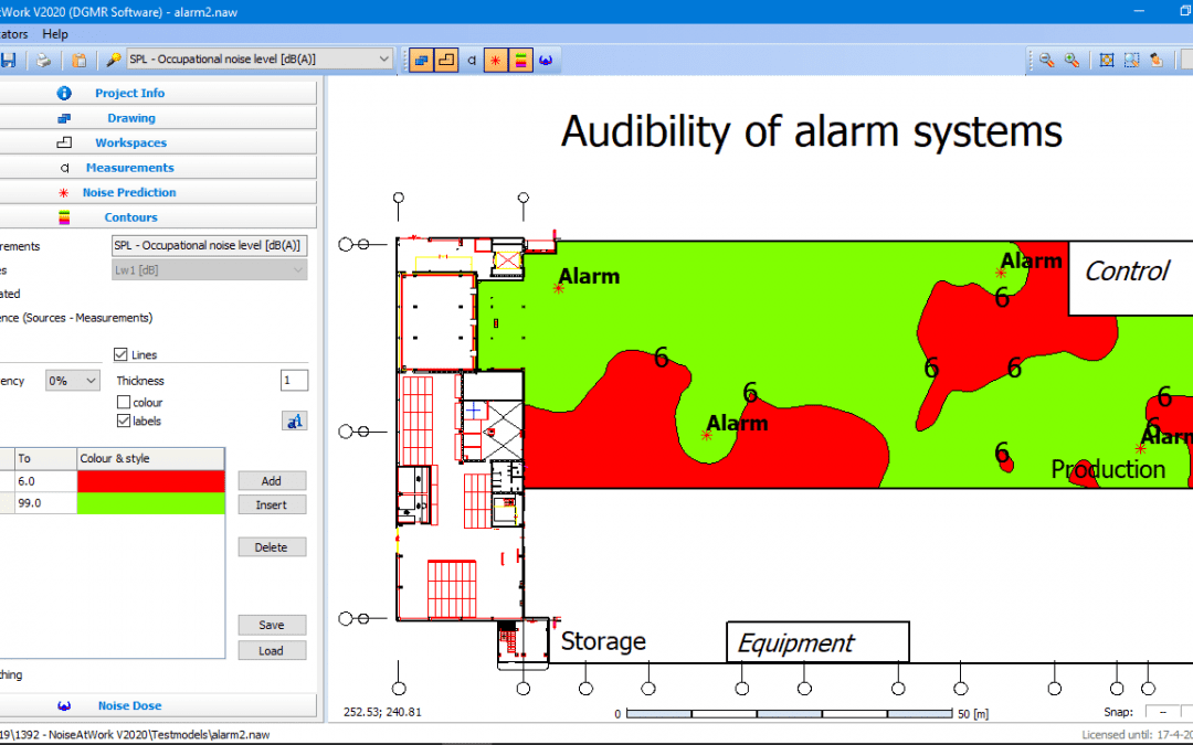 NoiseAtWork 2020 released with new option for audibility of alarm systems!